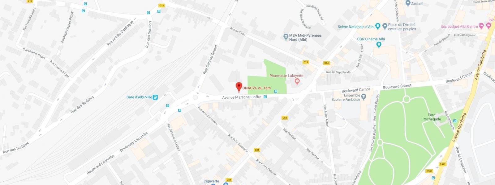 Carte Service Departemental De Lonacvg Du Tarn
