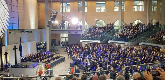 Photo de la cérémonie au Bundestag